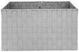 Košara Charlotte - svetlo siva, kovina/umetna masa (37,5/27,5/20,5cm) - Mömax modern living