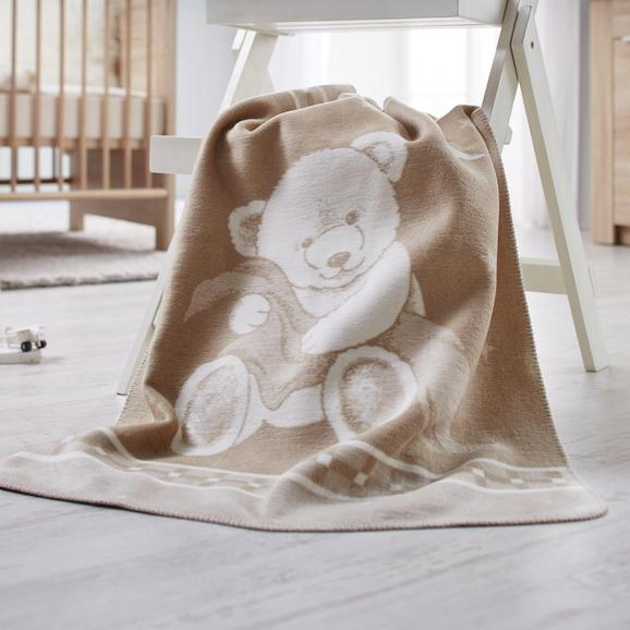 Babydecke Ibena in Beige - Beige, MODERN, Textil (75x100cm) - Ibena