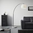 Stehleuchte Scarlett, max. 60 Watt - Silberfarben/Weiß, Design, Kunststoff/Stein (175/200cm) - Mömax modern living