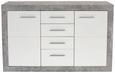 Servantă Malta - Alb/Gri, Modern, Compozit lemnos (138/86/35cm)