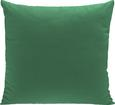 Zierkissen Zippmex, ca. 50x50cm - Dunkelgrün, Textil (50/50cm) - Based