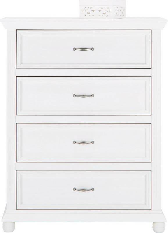 Kommode Weiß - Weiß, ROMANTIK / LANDHAUS, Holz/Metall (90/114/45cm) - Zandiara