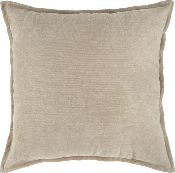 Zierkissen Chenille Kord, ca. 60x60cm - Beige, KONVENTIONELL, Textil (60/60cm) - Mömax modern living