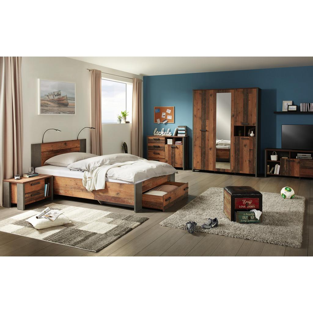 bett natur grau 120x200cm haustechnik thiel. Black Bedroom Furniture Sets. Home Design Ideas