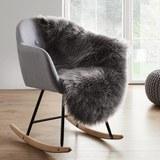 Kunstfell in Grau ca. 90x60 cm 'Alena' - Grau, MODERN, Textil (90/60cm) - Bessagi Home