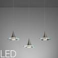 Pendelleuchte Ranarp mit Led 3-flammig - Klar, MODERN, Glas/Kunststoff (50/15/150cm) - Mömax modern living