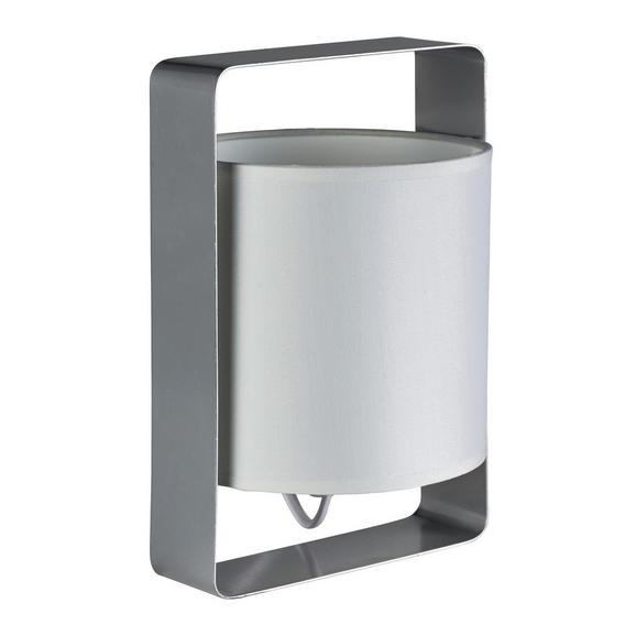 Tischleuchte Graham - Silberfarben, MODERN, Textil/Metall (16/15/25cm) - Bessagi Home