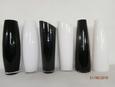 Vaza Jenny - črna/bela, steklo (50cm) - Mömax modern living