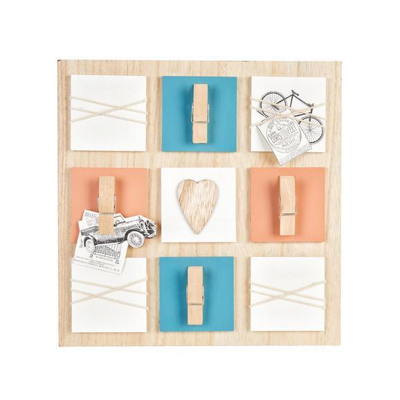 Bilderrahmen Home, ca. 36,5x36,5cm - Blau/Rot, Holzwerkstoff (36,5/36,5cm) - Mömax modern living