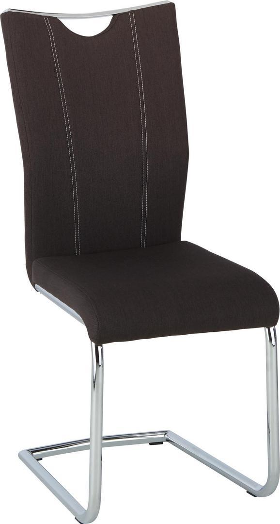 Schwingstuhl in Braun/chromfarben - Chromfarben/Braun, MODERN, Textil/Metall (44/100/58cm) - MÖMAX modern living