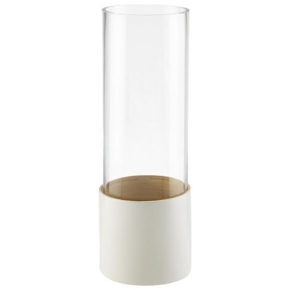 Dekorativna Vaza Finja - bela, steklo/les (11/31cm) - Mömax modern living