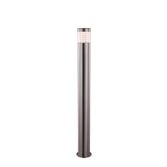 Außenleuchte Devian max. 11,5 Watt - Klar/Silberfarben, MODERN, Kunststoff/Metall (9,8/80cm)