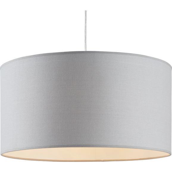 Leuchtenschirm Arno max. 60 Watt - Grau, Textil/Metall (50/50/25cm) - Mömax modern living