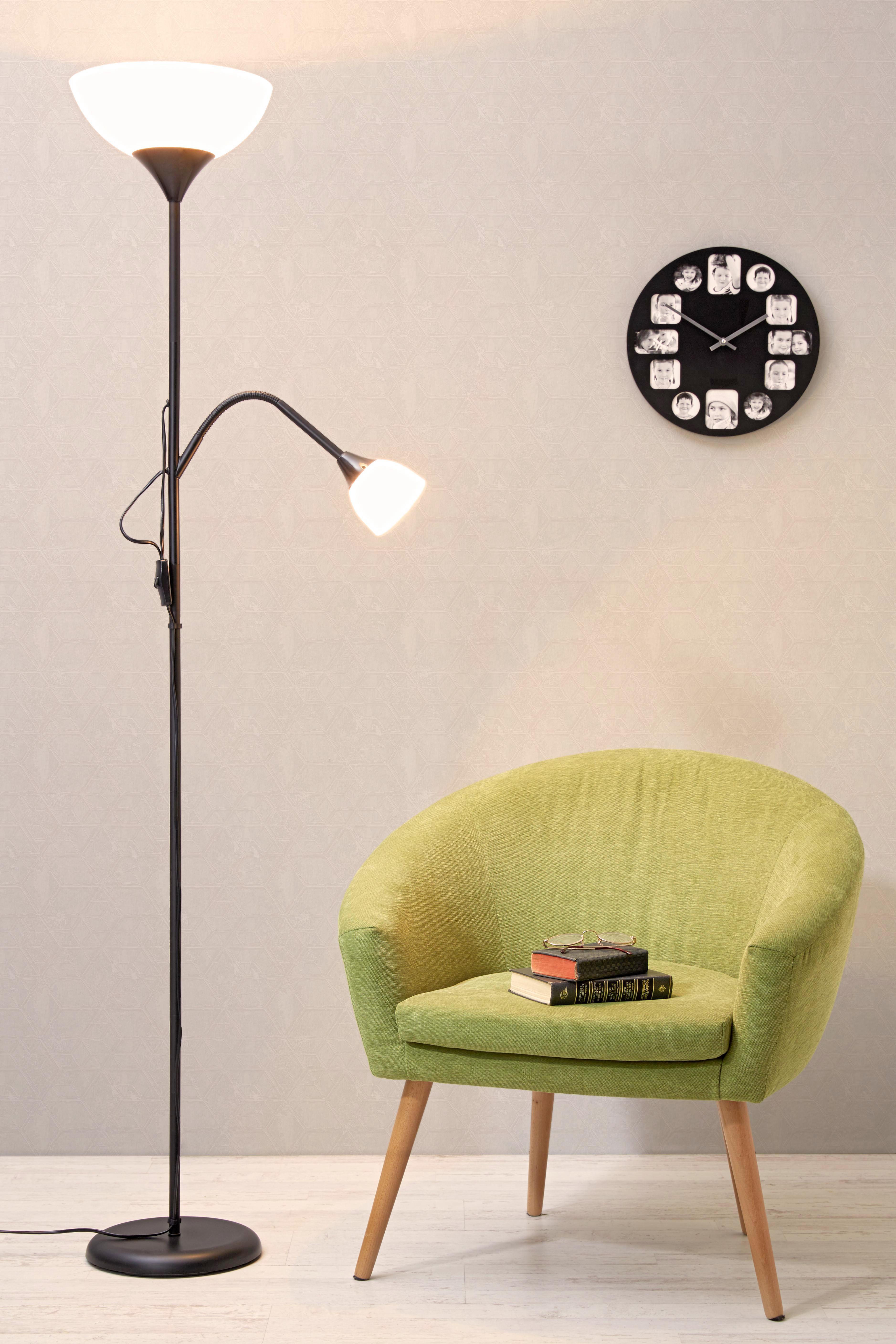 Állólámpa Vanessa - fekete/fehér, konvencionális, műanyag/fém (28/175cm) - MÖMAX modern living