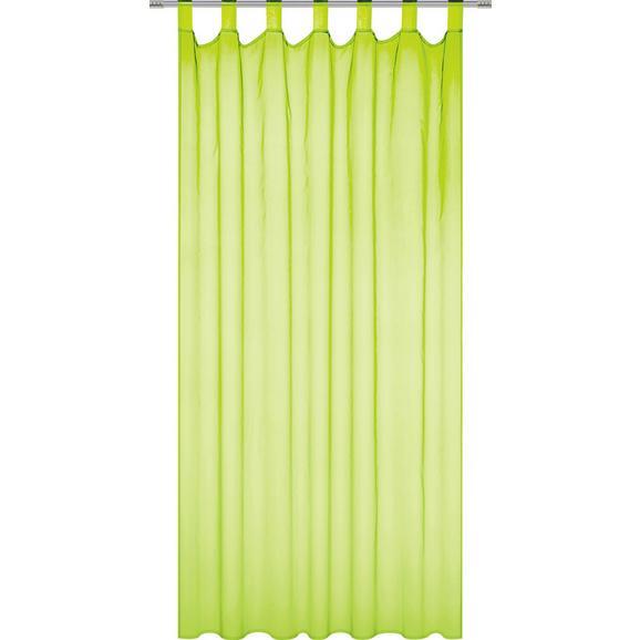 Perdea Cu Bride Susi - Alb/Petrol, Konventionell, Material textil (140/230cm) - Based