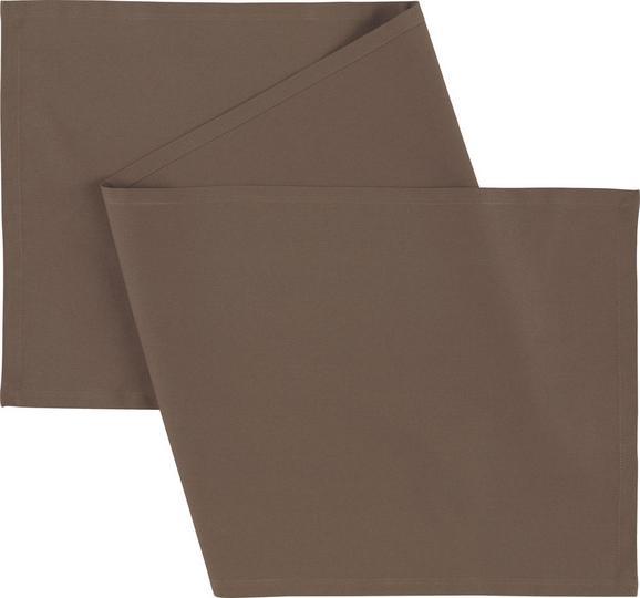 Asztali Futó Steffi - Taupe, Textil (45/150cm) - Mömax modern living