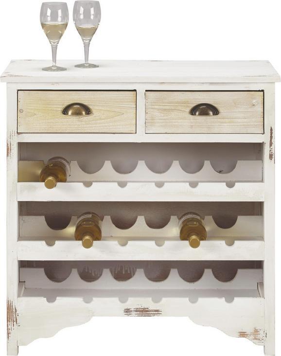 Anrichte Mary - Braun/Weiß, Holz/Metall (75/35/78cm) - Premium Living