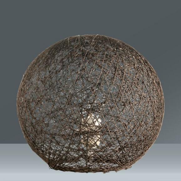 Tischleuchte Sophia, max. 60 Watt - Braun, Textil (30cm) - MÖMAX modern living