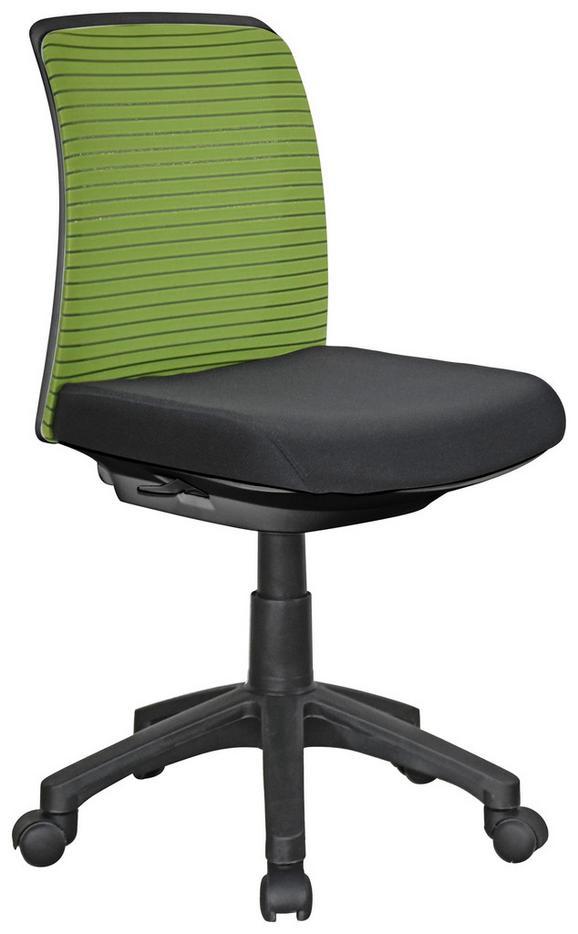 Drehstuhl in Grün/schwarz - Schwarz/Grün, Kunststoff/Textil (45/81-91/55cm) - Mömax modern living