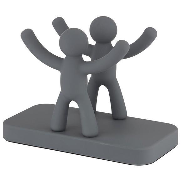 Serviettenhalter Ute aus Kunststoff - Grau, MODERN, Kunststoff (15,3/7,6/11cm) - Premium Living