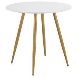 Esstisch John Ø ca. 80 cm - Weiß, MODERN, Holzwerkstoff/Metall (80/76cm) - Modern Living