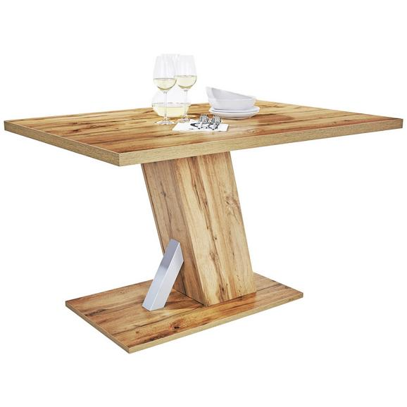 Masă Sufragerie Severin - culoare lemn stejar, Modern, compozit lemnos (138/76/90cm)