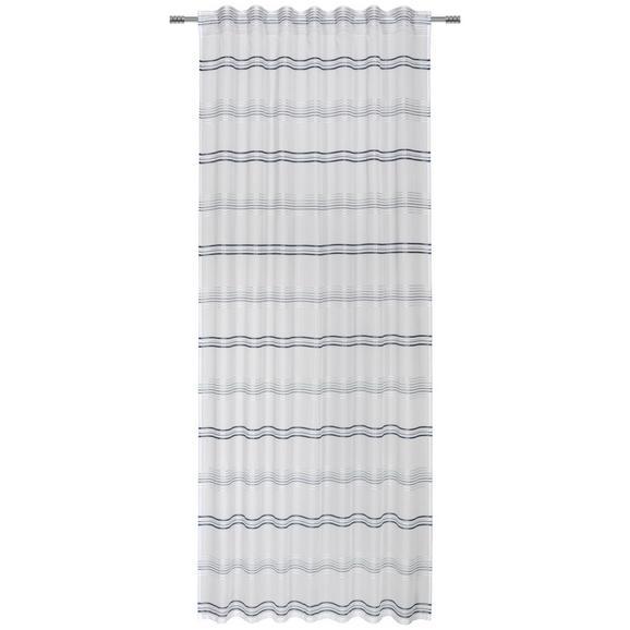 Končana Zavesa Louis - zeleni žad/bela, Konvencionalno, tekstil (140/245cm) - Mömax modern living