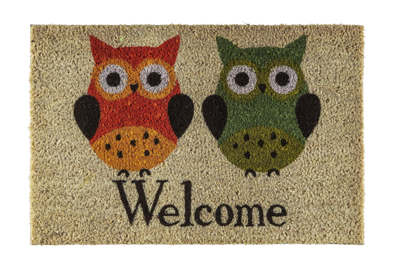 Lábtörlő Welcome Baglyok - natúr színek, textil (40/60cm) - MÖMAX modern living