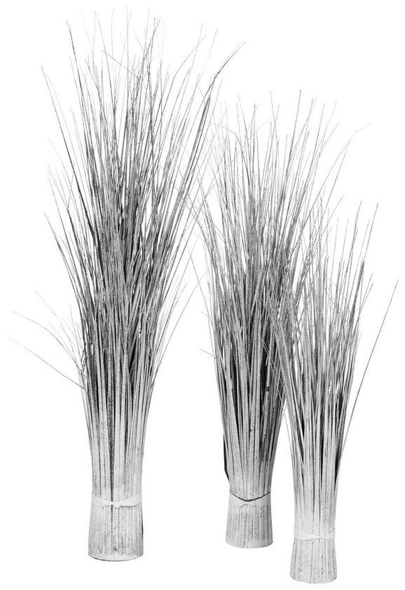 Grasbündel Lilli Silberfarben - Silberfarben, Kunststoff (65cm)