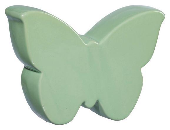 Okrasni Metulj Fiona - meta zelena, Romantika, keramika (10/8/3cm)