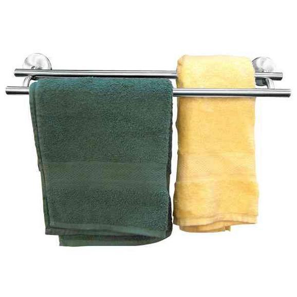 Handtuchhalter in Chromfarben - Chromfarben, Metall (6/52/16cm) - Mömax modern living