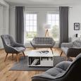 Sofa Monique Zweisitzer - Hellgrau, MODERN, Holz/Textil (127/76/74,5cm) - Mömax modern living