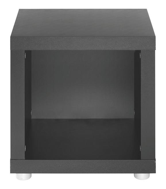 Beistelltisch in Schwarz lackiert - (44/46/35cm) - Mömax modern living