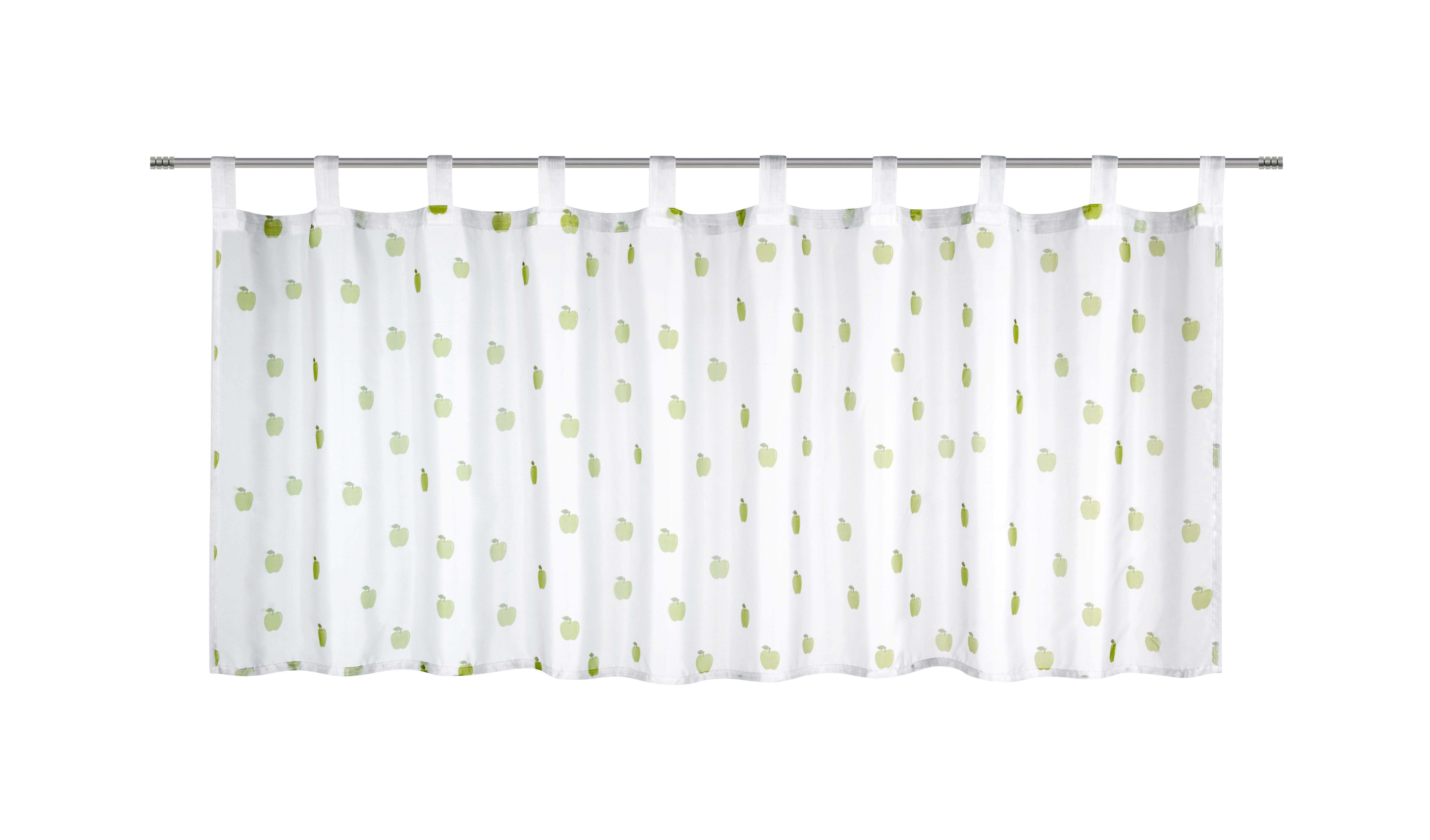 Kurzgardine Früchtchen, ca. 50x150cm - Grün, Textil (50/150cm) - MÖMAX modern living