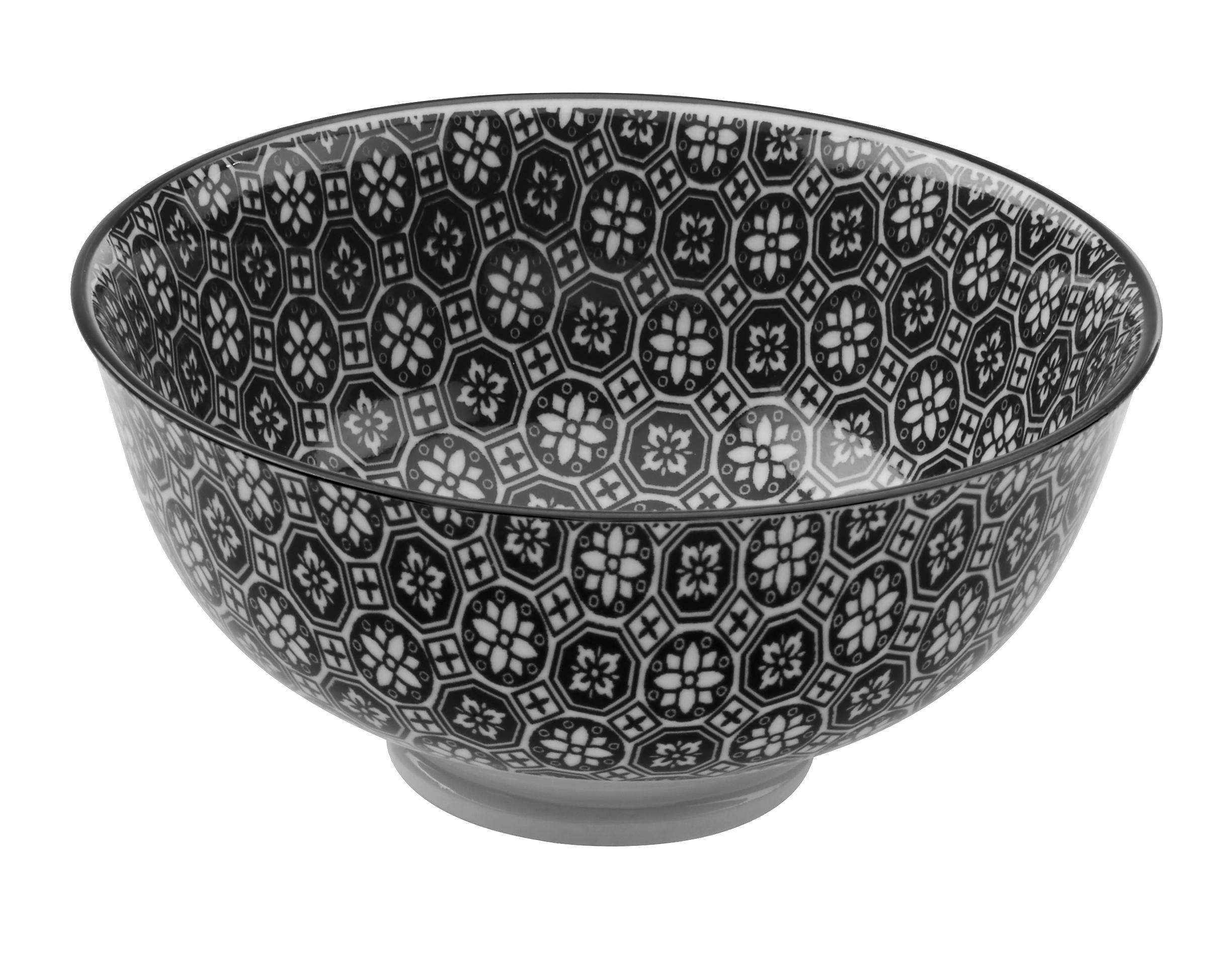 Schale Shiva in Schwarz/Weiß - Schwarz/Weiß, LIFESTYLE, Keramik (11,5/5,8cm) - MÖMAX modern living