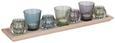 Teelichtschale Sandy Bunt - Multicolor, LIFESTYLE, Glas/Holz (50/8,5/12cm) - MÖMAX modern living