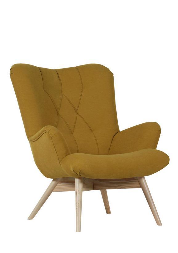 Sessel Gelb - Gelb/Naturfarben, Holz/Textil (80/94/96cm)