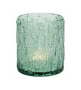 Teelichtglas Liam Grün - Dunkelgrün/Grün, MODERN, Glas (8/9cm)