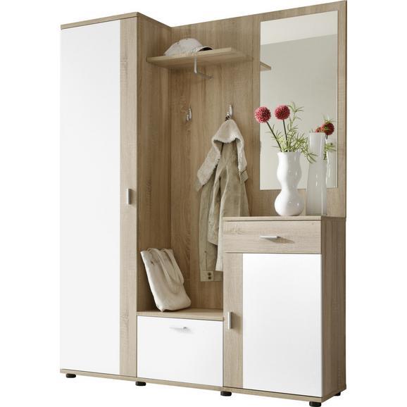 Cuier Patent - stejar Sonoma/alb, Modern, compozit lemnos (145/188/30cm) - Boxxx