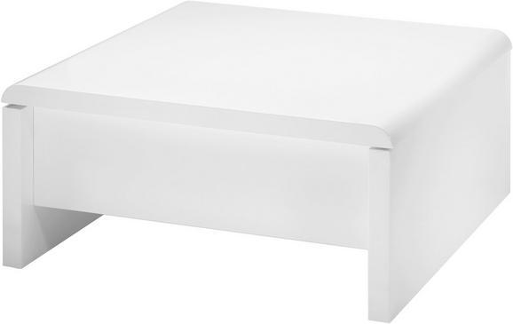 Klubska Miza Daytona - bela, Moderno, kovina/leseni material (75/35/75cm) - Mömax modern living