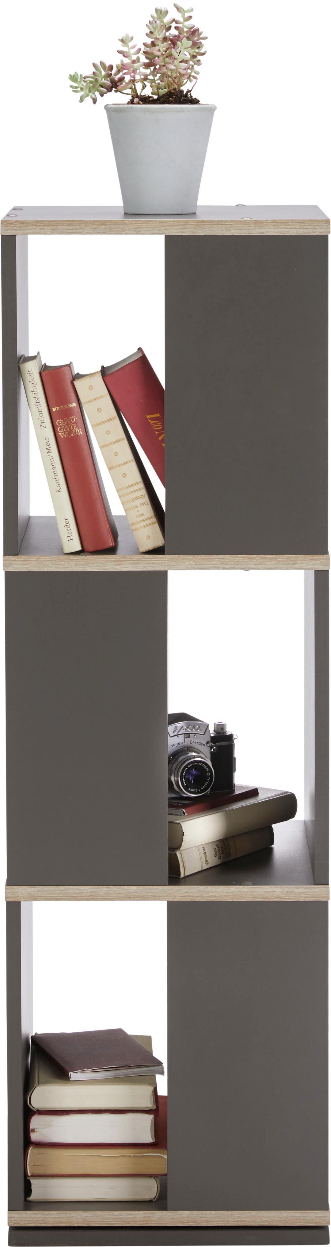 Regal in Grau/eiche - Eichefarben/Grau, MODERN, Holzwerkstoff (34/108/34cm) - MÖMAX modern living