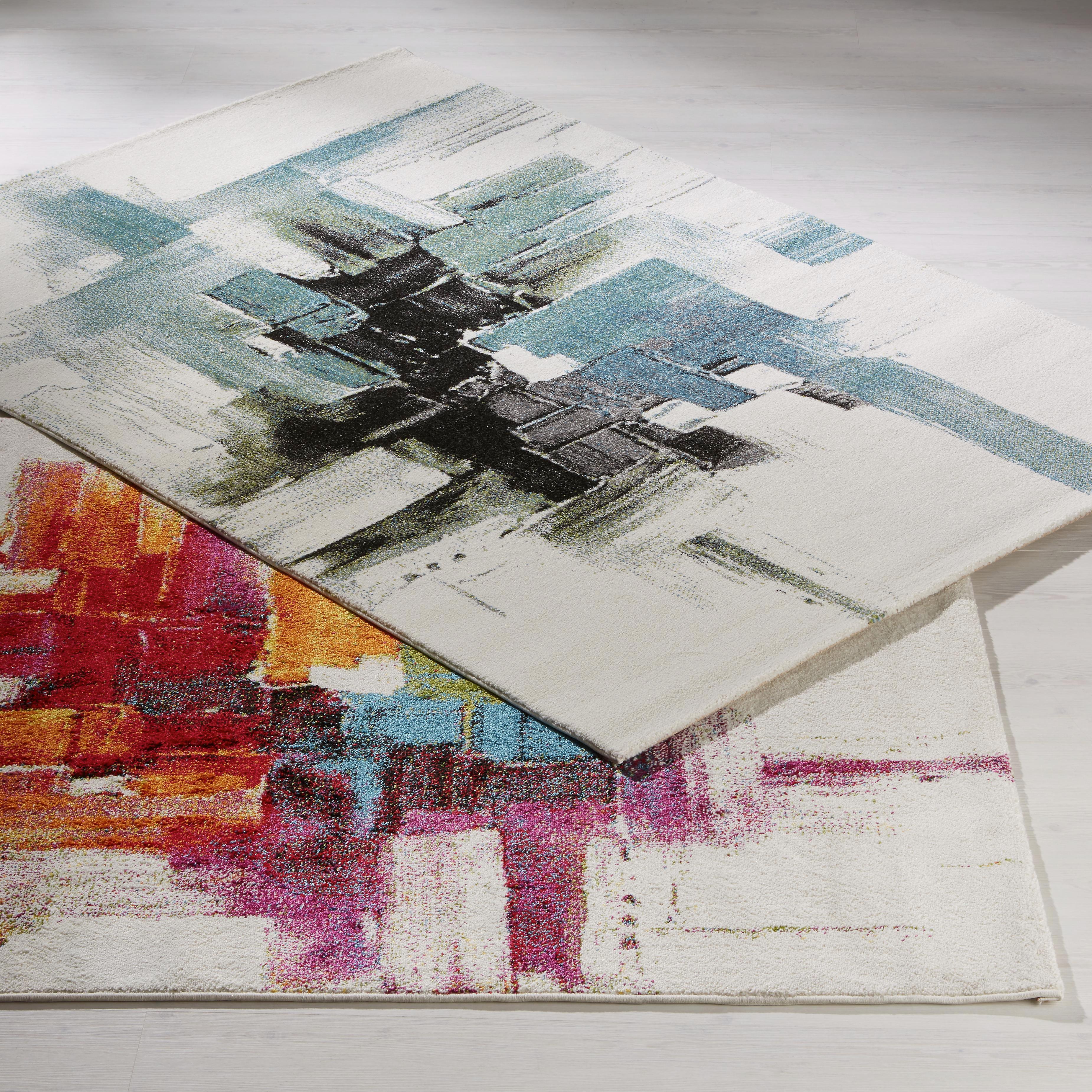 Szőnyeg Abstract 1 - fekete/kék, Lifestyle, textil (80/150cm) - MÖMAX modern living