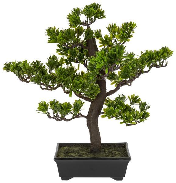 Kunstpflanze Bonsai Grün - Braun/Grün, Kunststoff (43 cmcm)