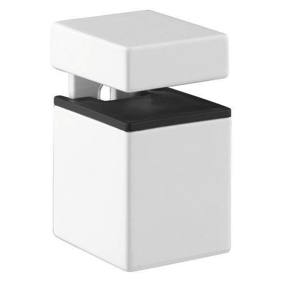Wandhalter Block 4 in Weiß, 2er Set - Weiß, Metall (5,5/5-7,1/3,5cm) - Mömax modern living