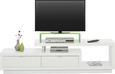 TV-Element in Weiß Hochglanz - Alufarben/Weiß, MODERN, Holzwerkstoff/Kunststoff (170/45/40cm) - Mömax modern living
