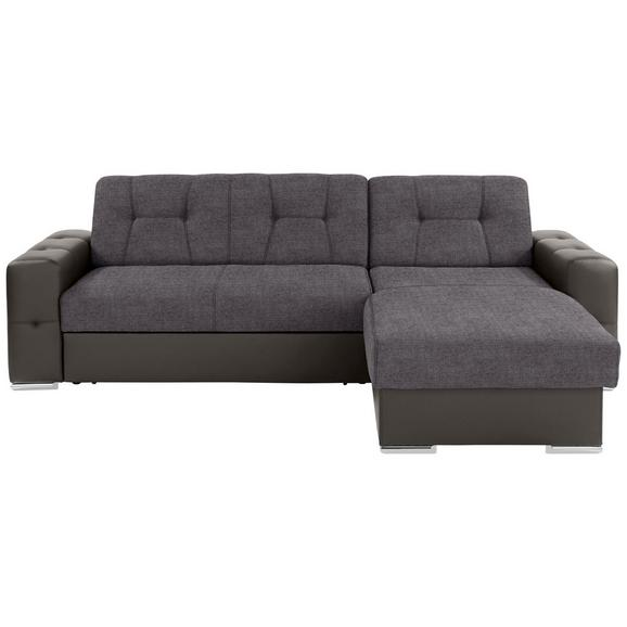 Sjedeža Garnitura Fulton - siva/boje kroma, Basics, plastika (260/160cm)