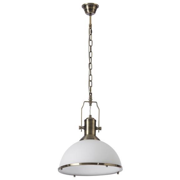 Pendelleuchte Belinda - Weiß/Bronzefarben, Glas/Metall (33/33/160cm) - Bessagi Home
