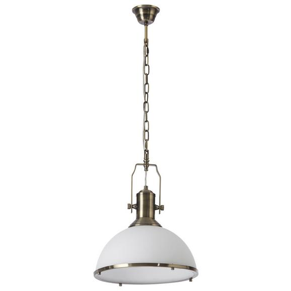 Pendelleuchte Belinda - Weiß/Bronzefarben, Glas/Metall (33/33/160cm) - Mömax modern living