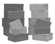 Box mit Deckel Paul aus Papier ca. 30x22x11cm - Schwarz/Weiß, MODERN, Papier (30/22/11,5cm) - Mömax modern living
