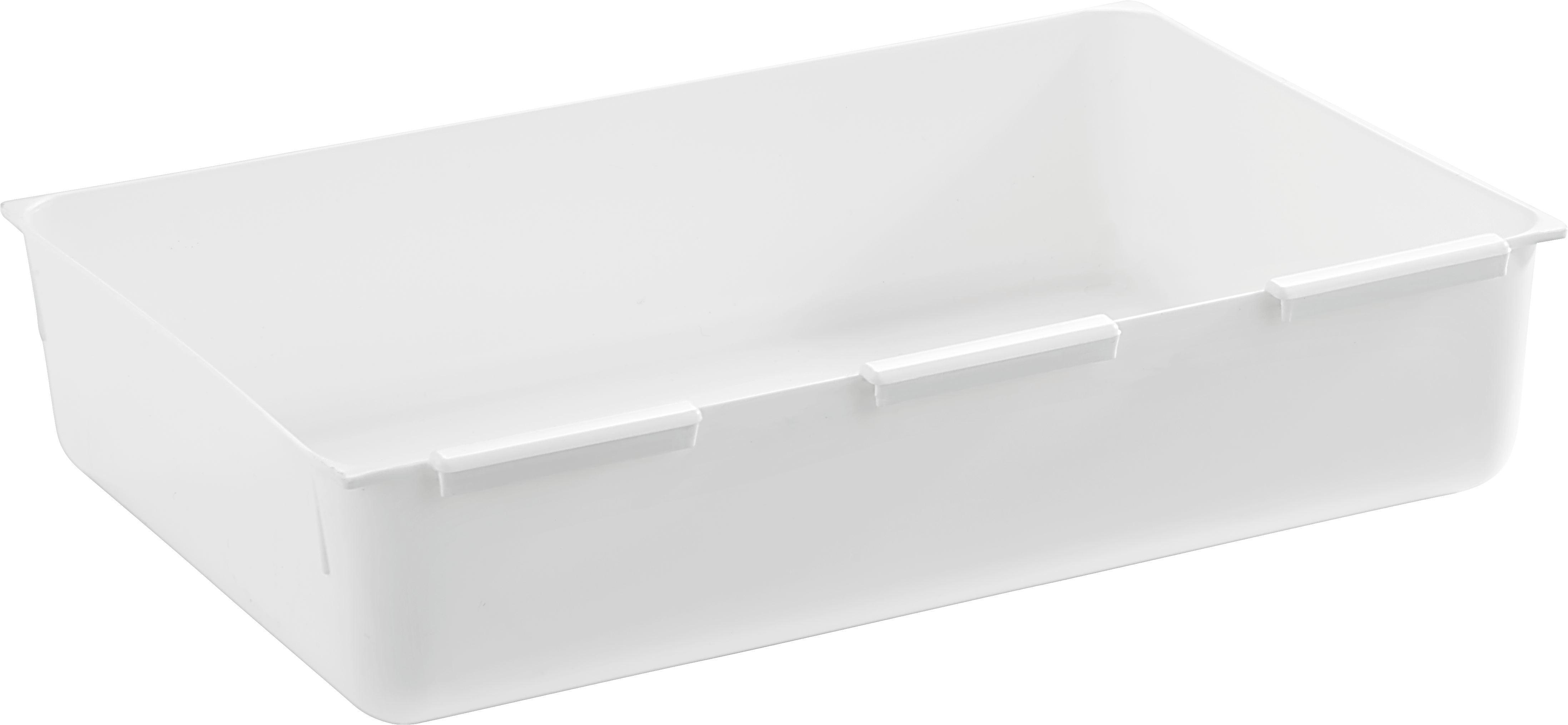 Predalnik Wanda - bela, umetna masa (14,9/22,4cm)